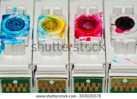 Printer cartridges - stock photo