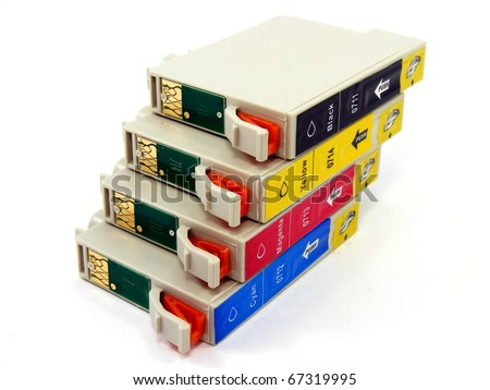 Printer Cartridges - stock photo