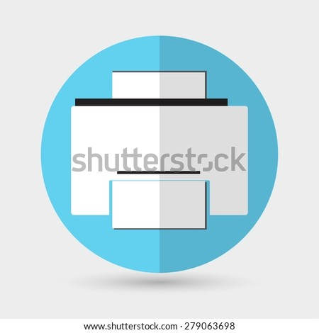 Printer icon - stock photo