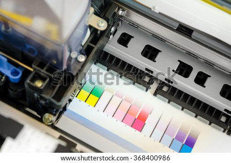 Printer Ink Jet Print Machine Printing Color Patches For Management Control