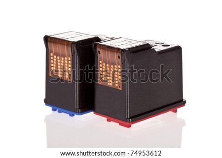 Printer Inkjet cartridges isolated on a white background