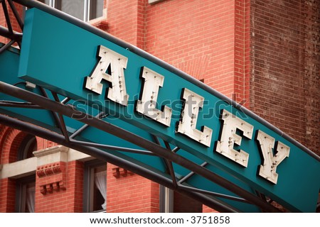 Printers Alley Nashville Tennessee - stock photo