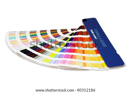 Printing color guide - stock photo