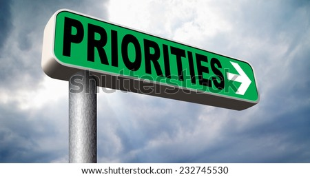 priorities important very high urgency info highest importance crucial information top priority dont forget