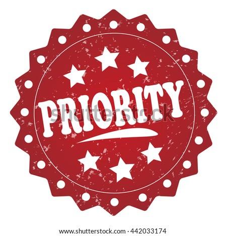 priority grunge stamp  - stock photo