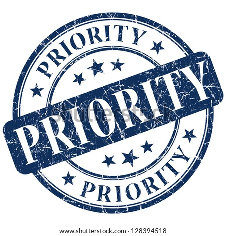 priority stamp - stock photo