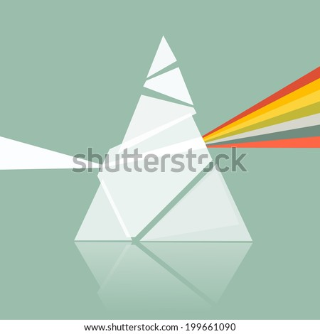Prism Spectrum Illustration on Retro Background  - stock photo