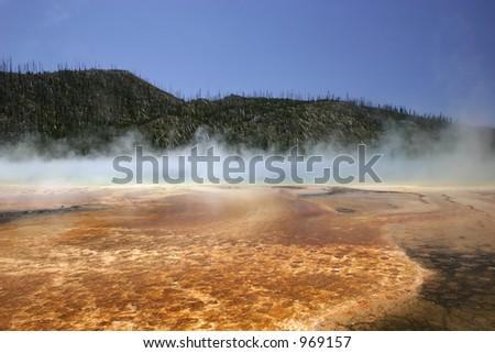 Prismatic Lake, Yellowstone NP - stock photo