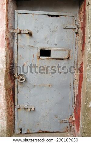 Prison gate.(Historical Sinop Prison) Sinop,TURKEY - stock photo