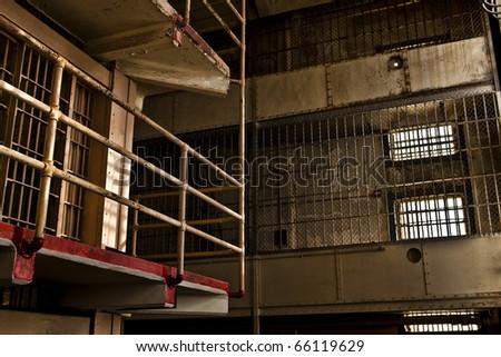 Prison Gun Gallery - stock photo