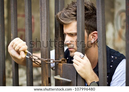 Prisoner - stock photo