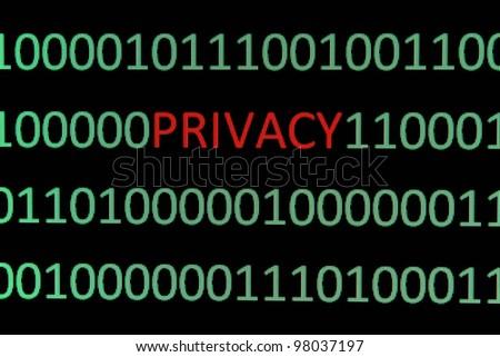 Privacy - stock photo