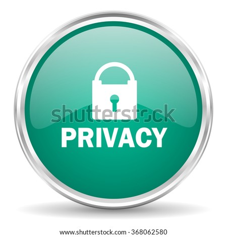 privacy blue glossy circle web icon
