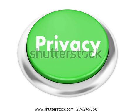 privacy button on isolate white background - stock photo