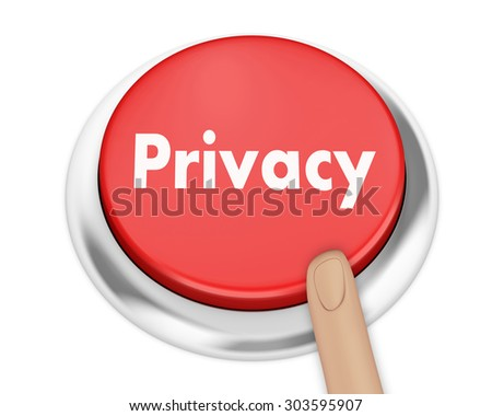 privacy button on isolate white background