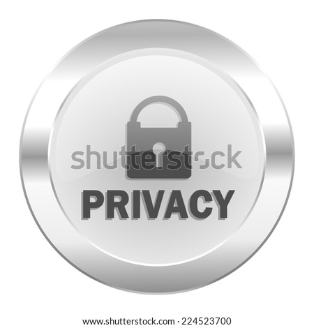 privacy chrome web icon isolated
