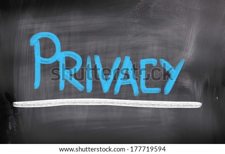 Privacy Concept - stock photo