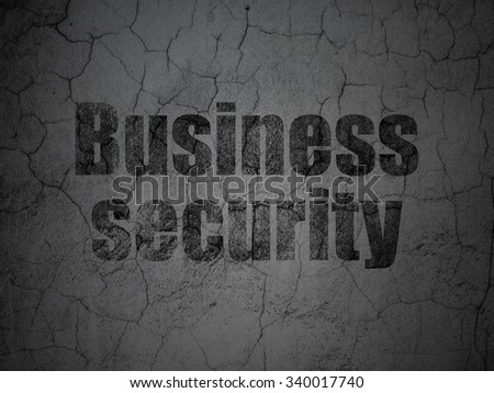 Privacy concept: Black Business Security on grunge textured concrete wall background - stock photo