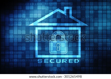 Privacy concept: pixelated icon on digital background, 3d render
