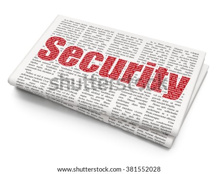 Privacy concept: Security on Newspaper background