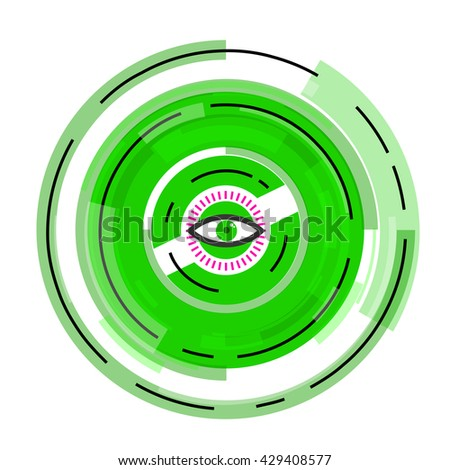 Privacy eye orb art concept.