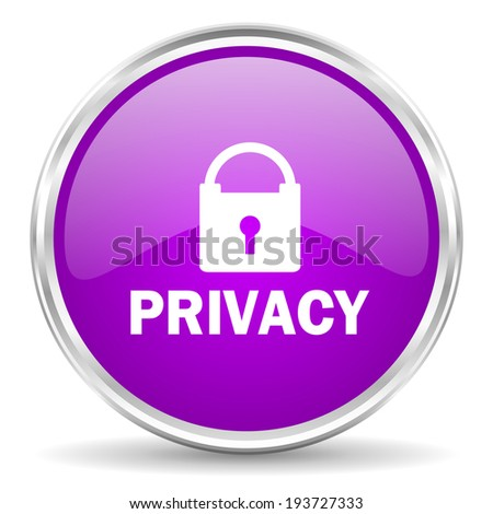 privacy pink glossy icon