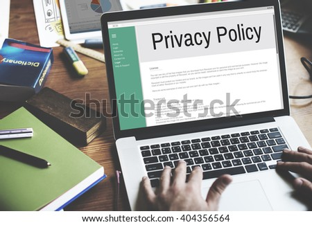 Privacy Policy Information Principle Strategy Rules Concept - stock photo