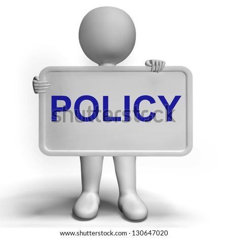 Privacy Policy Sign Showing Company Data Protection Terms - stock photo