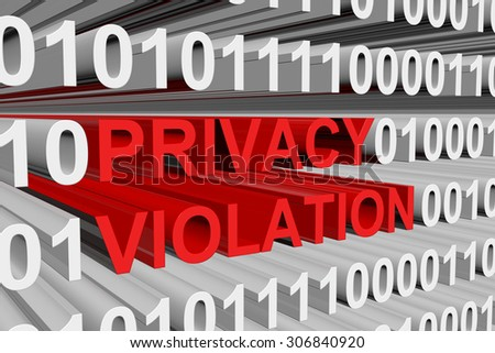 privacy violation is presented in the form of binary code