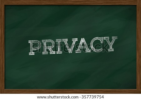 PRIVACY word written on green board - stock photo