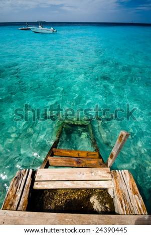 Private Beach - stock photo