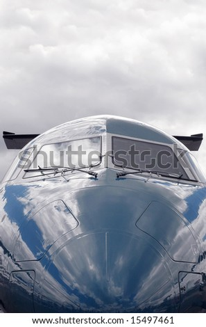 private business jet close-up (blue sky background also available - image ref: 23531260 - stock photo