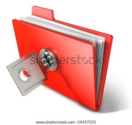 Private documents folder - stock photo