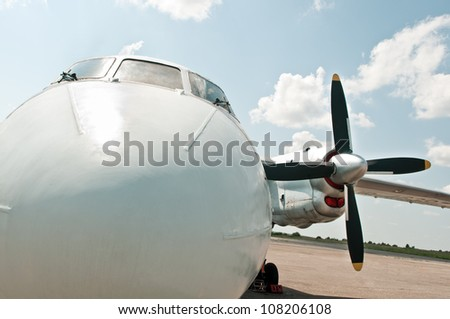 private plane ready to fly - stock photo