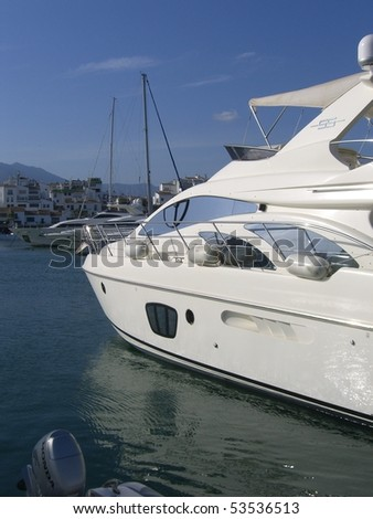 private yacht in port - stock photo