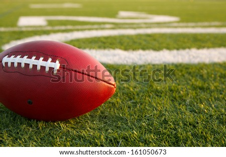 Pro Football Near the Twenty Yard Line