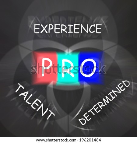 PRO On Blackboard Displaying Great Experience Talent And Excellence