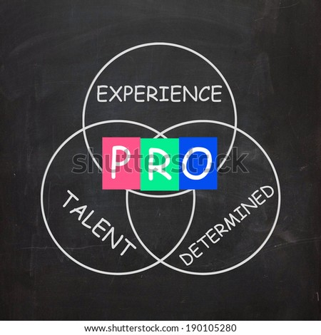 PRO On Blackboard Meaning Great Experience Talent And Excellence
