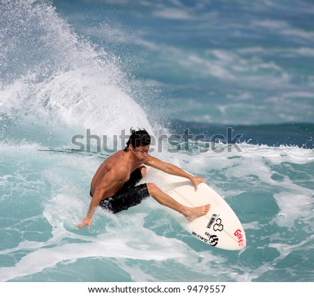 pro surfer Kalani Robb - stock photo