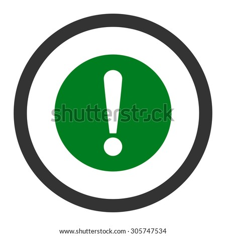Problem raster icon. This rounded flat symbol is drawn with green and gray colors on a white background.