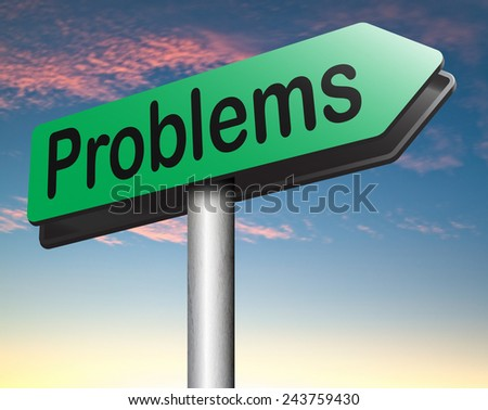 problem solved road sign find solution and get out of trouble and solve problems  - stock photo