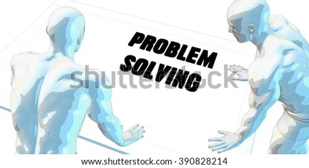 Problem Solving Discussion and Business Meeting Concept Art - stock photo