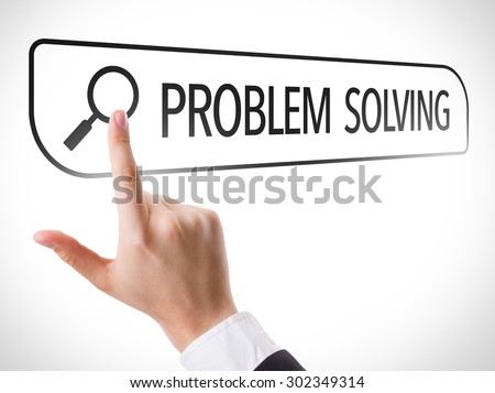 Problem Solving written in search bar on virtual screen - stock photo