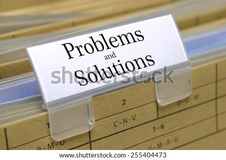 problems and solutions printed on file folder