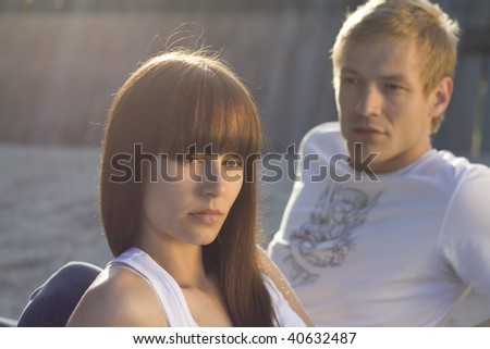 Problems in relationship - stock photo
