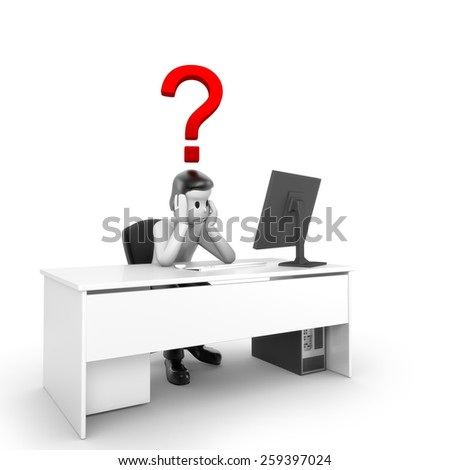 Problems with PC - stock photo