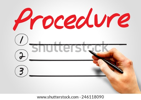Procedure blank list, business concept  - stock photo