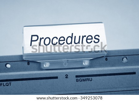 Procedures Folder Register Index