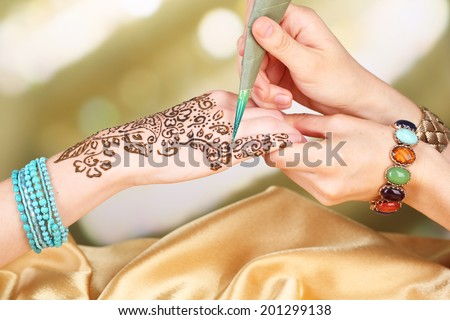 Henna tattoo stock photos images pictures shutterstock for Henna tattoo process