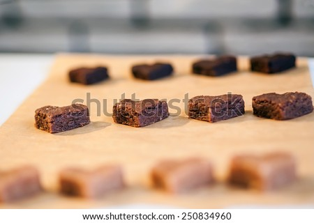 Process of baking homemade cake pops in the kitchen - stock photo